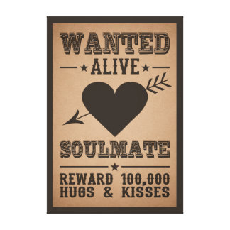 WANTED ALIVE: SOULMATE canvas print