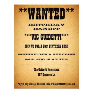 Wanted Birthday Surprise Flyer Design