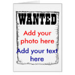 Wanted criminal jail cell prison prisoner photo greeting card