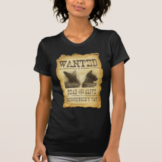 Wanted dead and alive Schroedinger s cat T-shirts