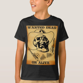 wanted dead or alive 1 t-shirts