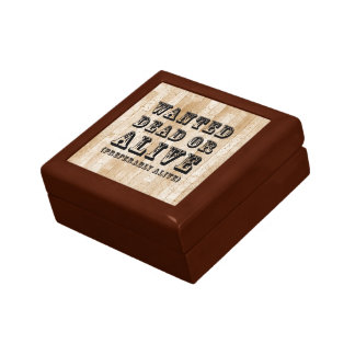 Wanted Dead or Alive Small Square Gift Box