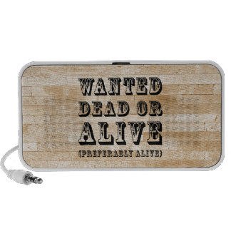 Wanted Dead or Alive Laptop Speaker