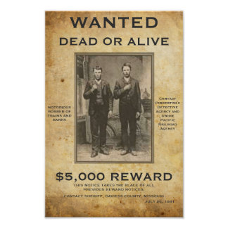 Wanted Dead or Alive U can change PIC and words Poster