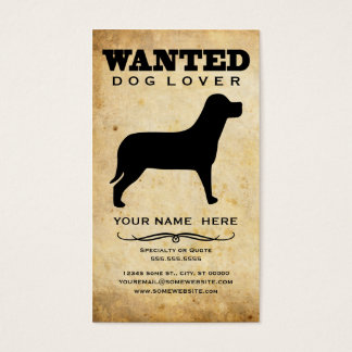 wanted : dog lover business card
