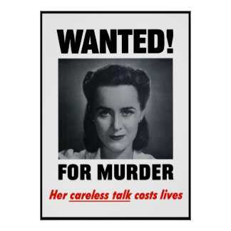Wanted For Murder -- Border Poster