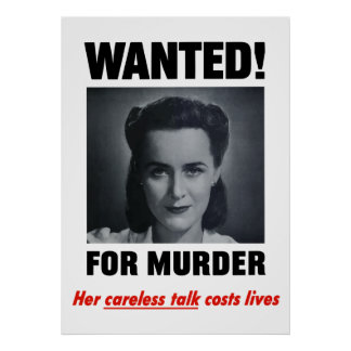 Wanted For Murder Print