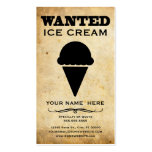 wanted : ice cream business card