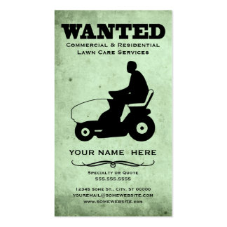 wanted : lawn care services pack of standard business cards