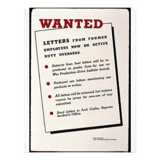 Wanted, Letters From Former Employees Now On Activ 21.5 Cm X 28 Cm Flyer