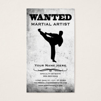 wanted : martial artist
