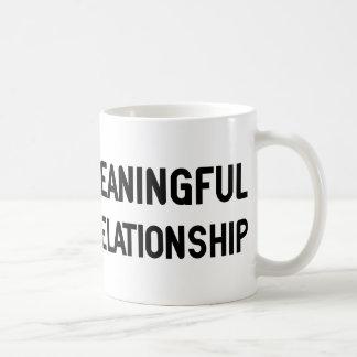 Wanted. Meaningful Overnight Relationship Basic White Mug