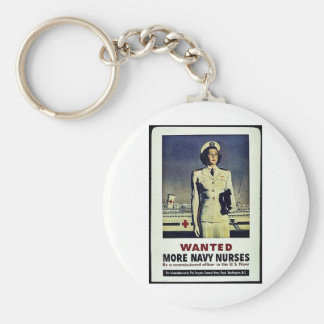 Wanted More Navy Nurses Keychain
