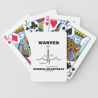 Wanted Normal Hearbeat (ECG/EKG Electrocardiogram) Bicycle Playing Cards