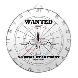 Wanted Normal Hearbeat (ECG/EKG Electrocardiogram) Dartboard