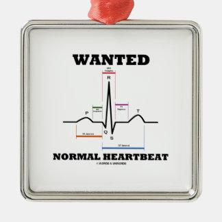 Wanted Normal Hearbeat (ECG/EKG Electrocardiogram) Christmas Ornament