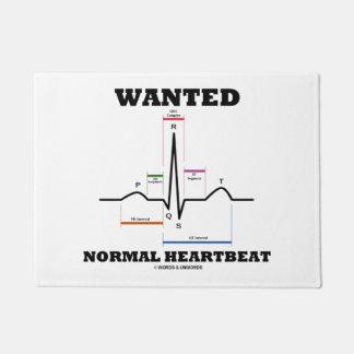Wanted Normal Heartbeat ECG Electrocardiogram Doormat
