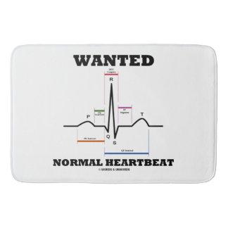 Wanted Normal Heartbeat Sinus Rhythm ECG EKG Bath Mat