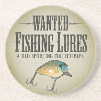 WANTED: Old Fishing Lures Coaster