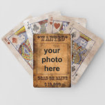 Wanted playing cards