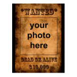 'Wanted' postcard