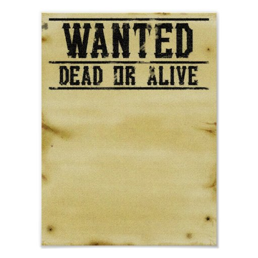 Wanted Poster | Zazzle