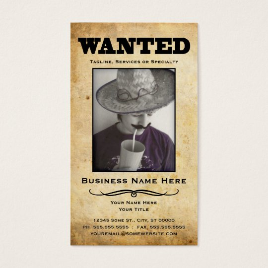 wanted poster business card