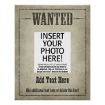 WANTED POSTER: customise this! Poster