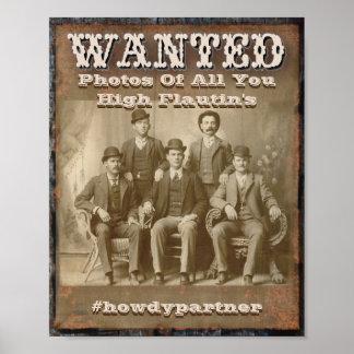 Wanted Poster - Hashtag and Social Media