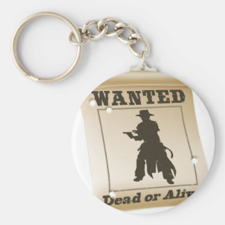 Wanted poster illustration keychain