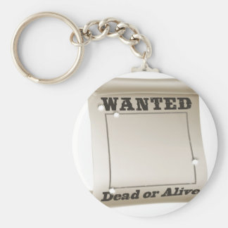 Wanted poster keychain