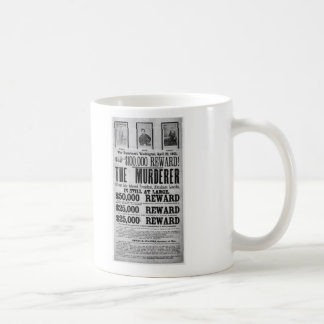 Wanted Poster Lincoln Assassination Conspirators Coffee Mugs