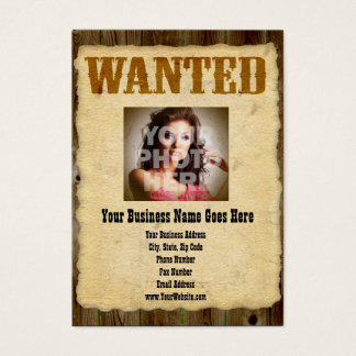 Wanted Poster Old-Time Photo