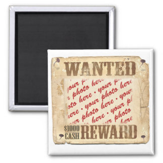 WANTED Poster Photo Frame Refrigerator Magnets