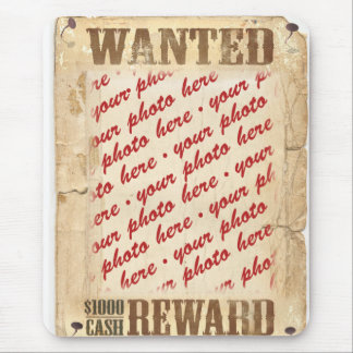 WANTED Poster Photo Frame Mouse Pad