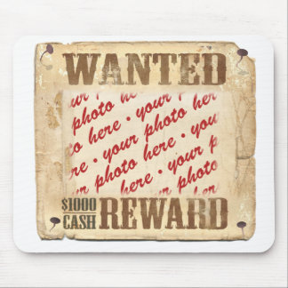 WANTED Poster Photo Frame Mousepads