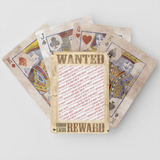 WANTED Poster Photo Frame Deck Of Cards
