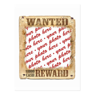 WANTED Poster Photo Frame Post Card