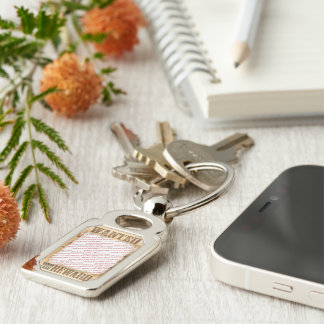 WANTED Poster Photo Frame Silver-Colored Rectangle Key Ring