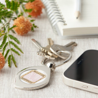 WANTED Poster Photo Frame Silver-Colored Swirl Key Ring