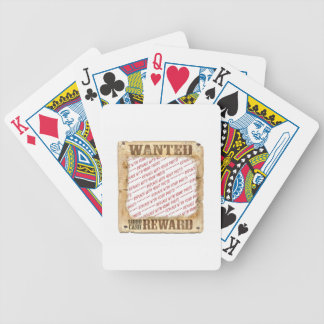 WANTED Poster Photo Frame Template Card Decks