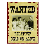 Wanted Poster Postcard