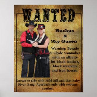 Wanted Poster Ruckus & Sky Queen Wannabes