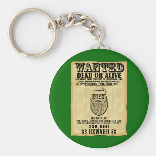 Wanted Poster - Santa Claus Keychain