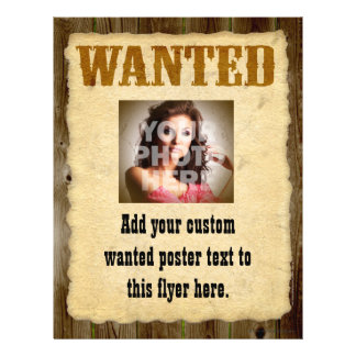 Wanted Poster, Vintage Picture Frame Flyer