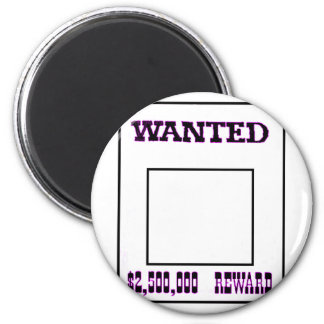 Wanted Purple The MUSEUM Zazzle Gifts 6 Cm Round Magnet