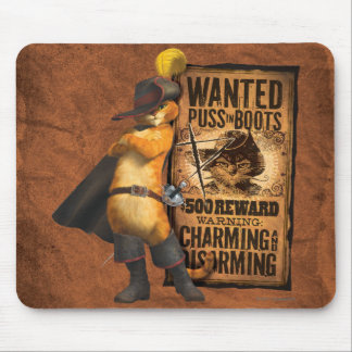 Wanted Puss in Boots (char) Mouse Mat