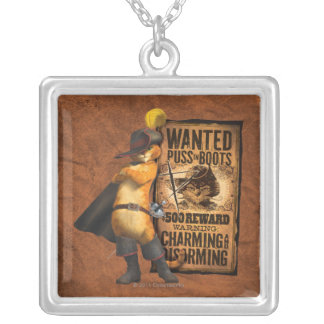Wanted Puss in Boots (char) Silver Plated Necklace