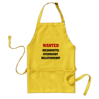 Wanted Relationship Adult Apron