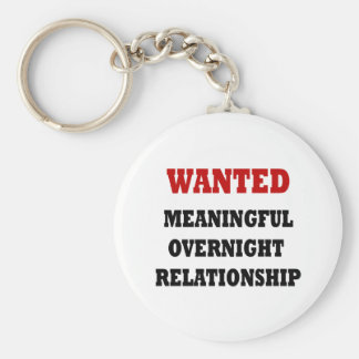 Wanted Relationship Basic Round Button Key Ring